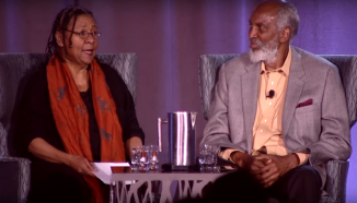 bell hooks and john a. powell at the 2015 Othering and Belonging Conference